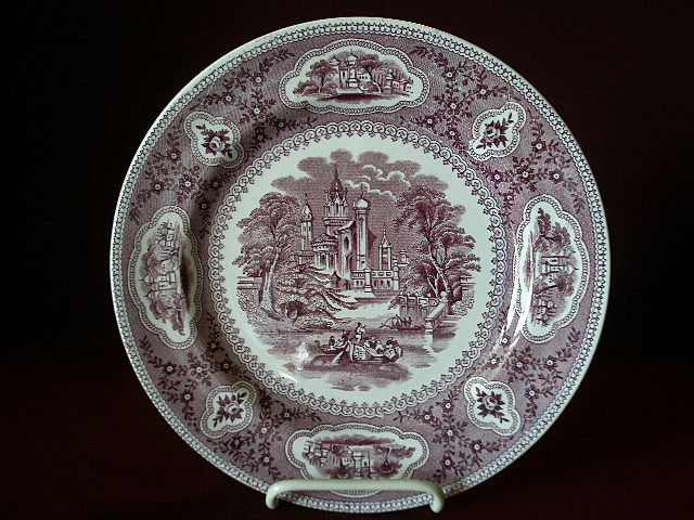 "Mulberry Transfer-ware ""Baronial"" Pattern Dinner Plate"
