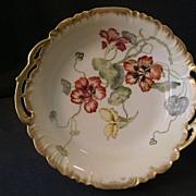 CFH/GDM Hand-Painted Serving Bowl w/Nasturtium Flowers