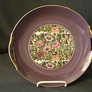 Noritake China H.P. Serving plate w/Oriental Floral & Bird Decoration