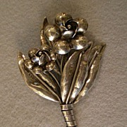 "Hobe Sterling Silver ""Bouquet Of Flowers"" Brooch"