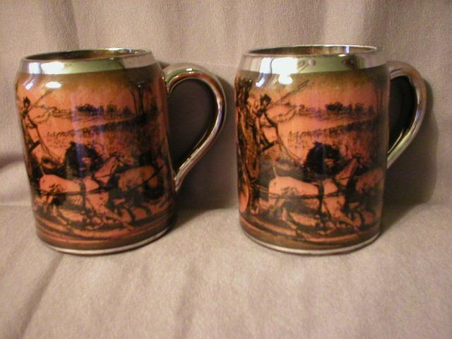 "Pair of Ridgway Pottery ""Coaching Days & Coaching Ways"" Mugs"
