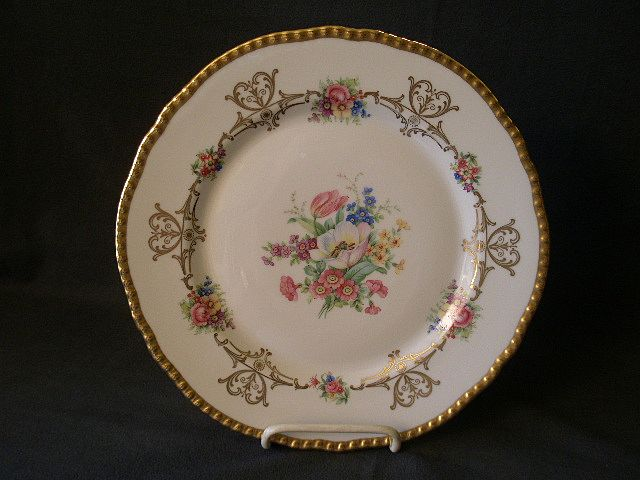 "Set of 2 - Royal Bayreuth ""Chatham"" Pattern Dinner/Service Plates"