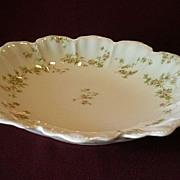 "Haviland & Co. ""Green & Pink Floral"" Round, Open Serving Bowl - Schleiger #74A"