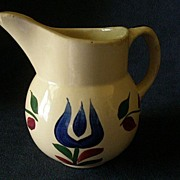 "Watt Pottery ""#15 Dutch Tulip"" Pattern Pitcher"