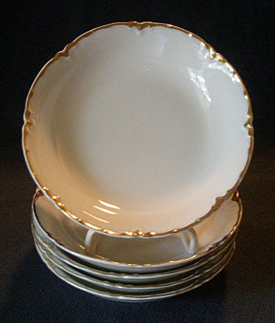 "Set of 5 Haviland & Co. Limoges ""Ranson w/Gold"" Sauce Dishes, Blank #1"
