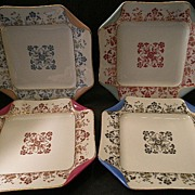 "Set of 4 Haviland & Co. Limoges ""Napkin Fold"" Luncheon Plates, Circa 1880's"