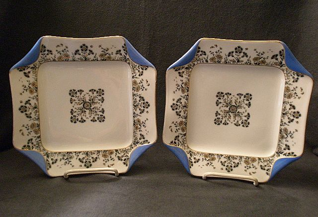 "Set of 2 Haviland & Co. Limoges ""Napkin Fold"" Luncheon Plates, Dated 1882"
