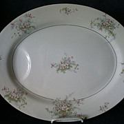 "Theodore Haviland, New York, ""Apple Blossom"" Pattern 16"" Serving Platter"