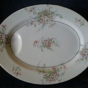 "Theodore Haviland, New York, ""Apple Blossom"" Pattern 11"" Serving Platter"