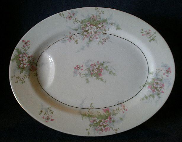 "Theodore Haviland, New York, ""Apple Blossom"" Pattern 11"" Serving Platter"