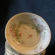 "Set of 6 Theodore Haviland, New York, ""Apple Blossom"" Pattern 5"" Sauce Dishes"