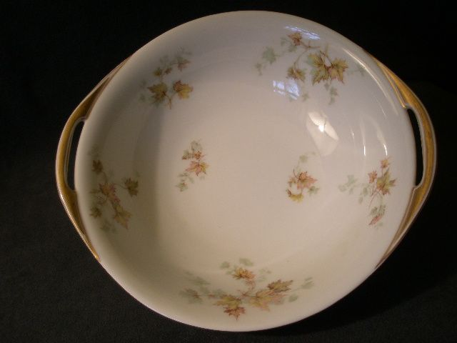 "Charles Haviland & Co. Limoges - ""Jewel Tea - Autumn Leaf"" Round Open Vegetable Bowl w/Handles"