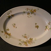 "Charles Haviland & Co. Limoges - ""Jewel Tea - Autumn Leaf"" Oval Serving Platter"