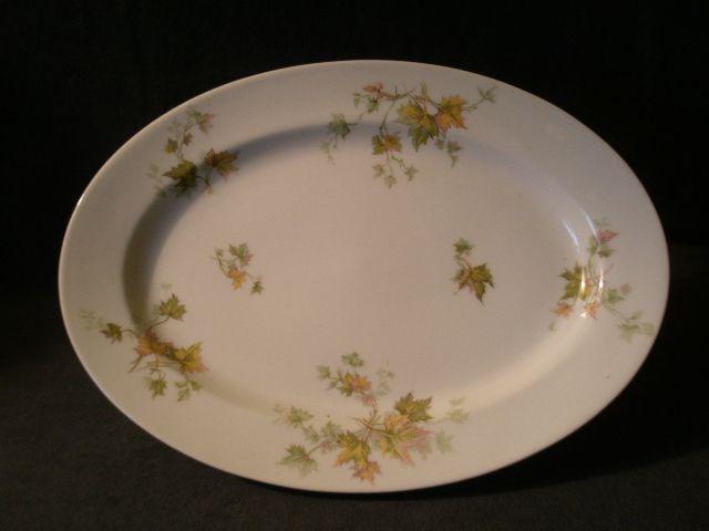 """Charles Haviland & Co. Limoges - """"Jewel Tea - Autumn Leaf"""" Oval Serving Platter"""