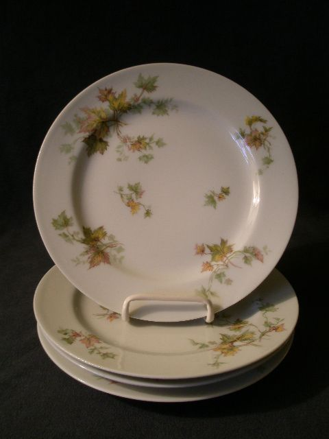 "Set of 4 Charles Haviland & Co. Limoges - ""Jewel Tea - Autumn Leaf"" Salad/Dessert Plates"
