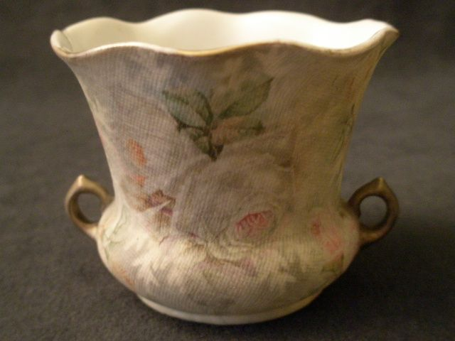 "Royal Bayreuth ""Rose Tapestry"" Vase or Open Sugar Bowl"