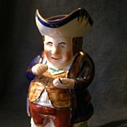 """Charles Allerton & Sons """"Snuff Taker"""" Toby PItcher"""
