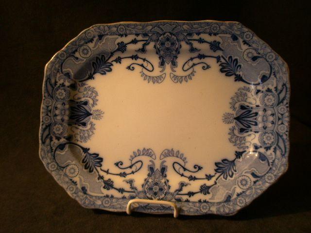 """Burgess & Leigh Flow Blue """"Raleigh"""" Pattern Oval Platter"""