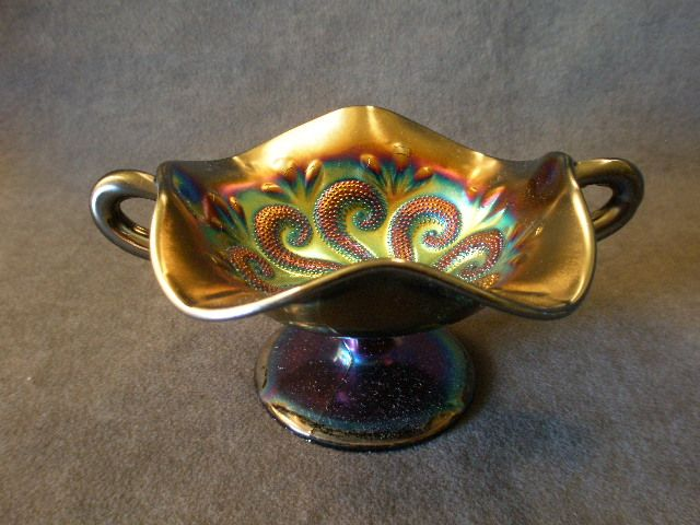"Dugan/Diamond Carnival  ""Question Marks"" Two-Handled BonBon"