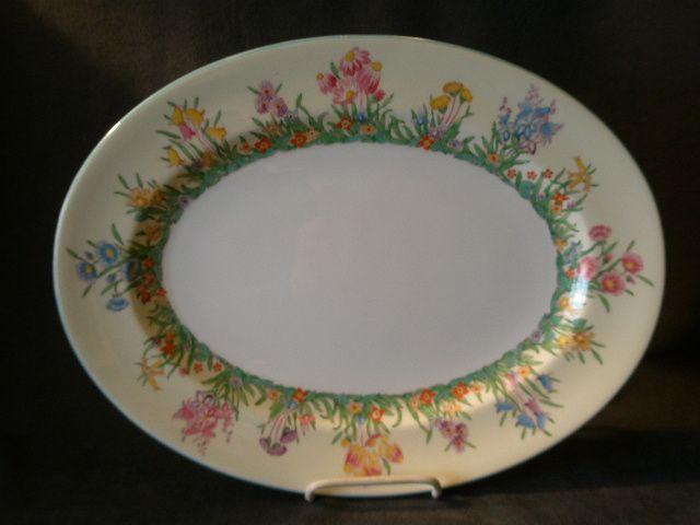 """Josiah Wedgwood & Sons """"Prairie Flowers"""" Pattern Oval Serving Platter"""