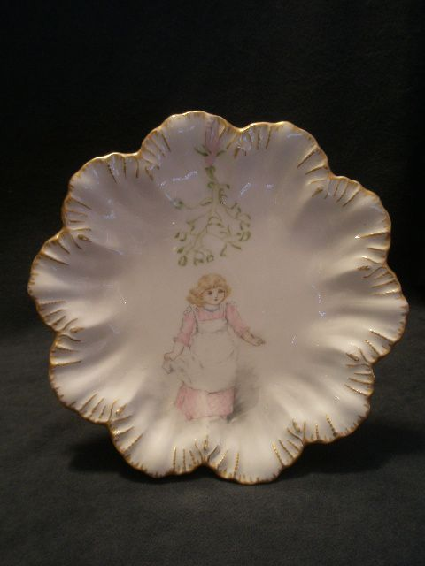 Limoges Hand Painted Cabinet Plate w/Character Scene of Children