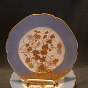 Set of 4 Jean Pouyat (JPL) Limoges Hand Painted Salad/Dessert Plates w/Encrusted Gold Floral Decoration