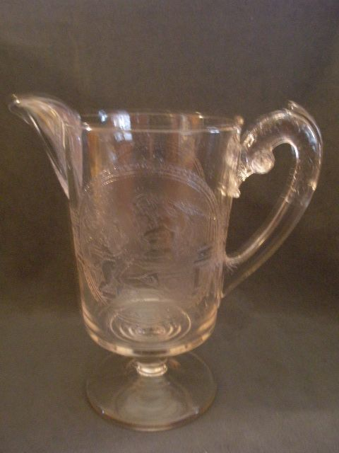 "EAPG -  ""Psyche & Cupid"" Water Pitcher"