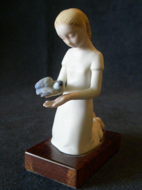 """Cybis Porcelain """"First Flight"""" Figurine from Children to Cherish Series"""