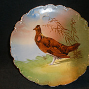 Limoges France C. et J. Game Plate w/Bird Transfer Design