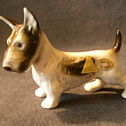 "Royal Dux Porcelain ""Fox Terrier"" Dog Figurine #351"
