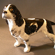 "Alton China Company Hand Painted Bone China ""Springer Spaniel"" Figurine"