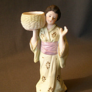 "Gebruder Heubach ""Oriental Lady Carrying a Woven Basket"" Figurine"