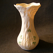 "Irish Belleek porcelain ""Shamrock"" Pattern Vase"