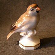 "Gerold Porzellan Bavaria Hand Painted ""Sparrow /Finch"" Figurine #4964"