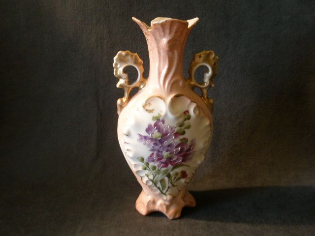 victoria carlsbad austria hand paint vase w floral On pottery painting carlsbad