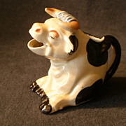 "Japan Figural Individual-Size Setted ""Bull"" Cream Pitcher - Golden Age"