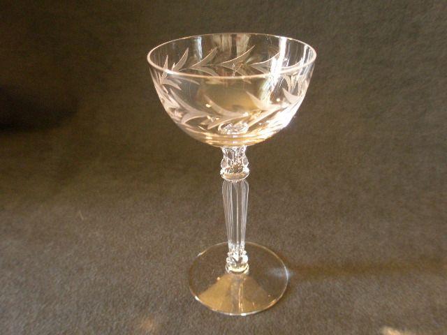 "Set of 3 - Fostoria ""Holly"" Pattern Liquor Cocktails"
