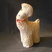 "Vintage Chalk/Plaster Figural ""lamb"""