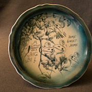 Indianapolis, Indiana Advertising/Souvenir Plate w/Baby Birds Transfer