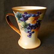 Vienna Austria Home Studio Hand Painted Stein w/VInes of Grapes Decoration