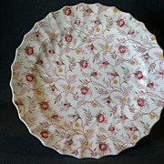 "Set of 4 Copeland Spode ""Rosebud Chintz"" Pattern Dinner Plates"