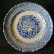 "Podmore, Walker & Co.  Blue Transfer ""Venus"" Pattern Plate"