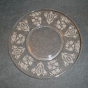 "Set of 6 - Tiffin ""Cherokee Rose"" Pattern Luncheon Plates"