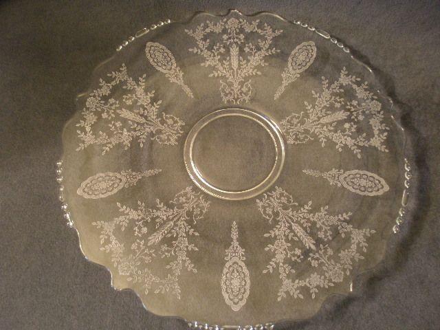 """Tiffin """"June Night"""" Pattern Round Sandwich Plate"""