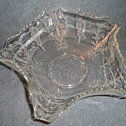 "Tiffin ""June Night"" Pattern Round Crimped Serving Bowl"