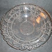 "Tiffin ""June Night"" Pattern Round Flared Serving Bowl"