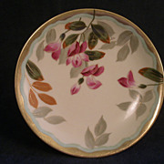 T & V Factory Studio Hand-Painted Cabinet Plate w/Floral Motif