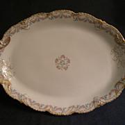 Theodore Haviland Floral Motif Oval Serving Platter, Schleiger #140-2, Blank 301