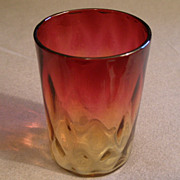 Amberina Tumbler in Inverted Diamond Pattern