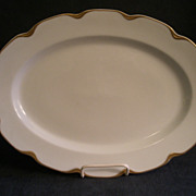 "Charles Haviland & Co. Limoges ""Silver Anniversary"" Medium Oval Serving Platter- Schleiger #19"